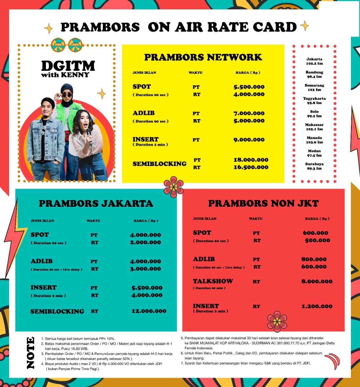 rate card 1