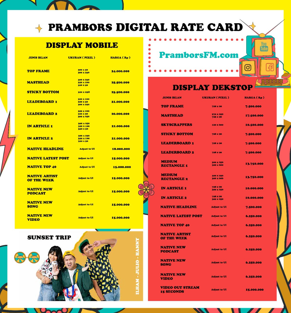 rate card 3